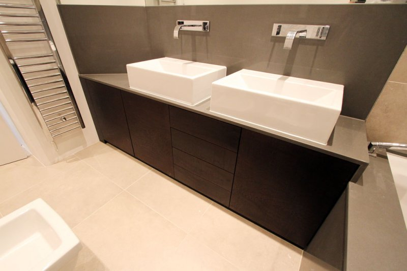 Bespoke Vanity Unit; Walnut Under Sink Cabinet ... & Fitted Bathroom Furniture in London | Bespoke Bathroom Cabinets