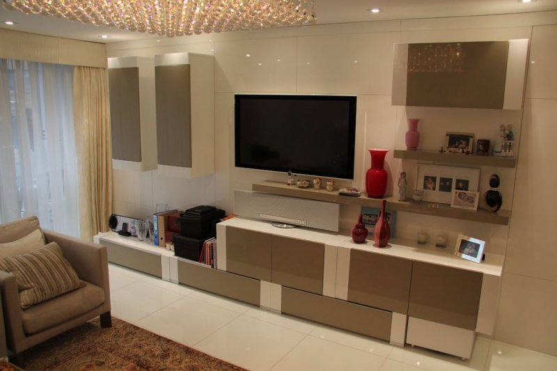 contemprory living room furniture fitted bookcases bespoke fitted library modern_gloss tv unit